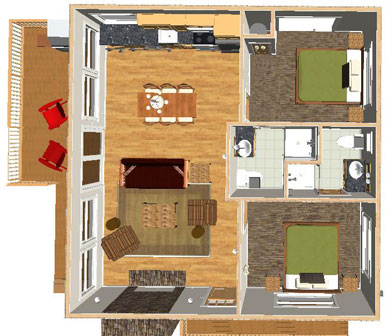 Floor Plan for Cabin 8